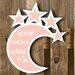 Factory4Home Schild BL-Mond, Typographische Kunst in Pink