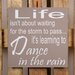 Factory4Home Schild-Set BD-Life isn't about waiting, Typographische Kunst in Taupe