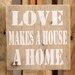 Factory4Home Schild-Set BD-Love makes, Typographische Kunst