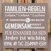 Factory4Home Schild-Set BD-Familien-Regeln, Typographische Kunst in Taupe