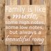 Factory4Home Schild BD-Family is like music, Typographische Kunst
