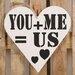Factory4Home Schild-Set HE-You + Me, Typographische Kunst