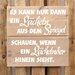 Factory4Home Schild BD-Es kann nur dann, Typographische Kunst