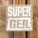 Factory4Home Schild-Set BD-Super Geil, Typographische Kunst