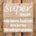 Factory4Home Schild BD-Super Oma, Typographische Kunst
