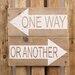 Factory4Home Schild BD-One way, Typographische Kunst