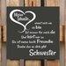 Factory4Home Schild-Set BD-Meine Schwester, Typographische Kunst in Schwarz