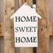 Factory4Home Schild-Set HS-Home sweet home, Typographische Kunst in Weiß