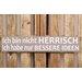 Factory4Home Schild-Set BD-Ich bin nicht Herrisch, Typographische Kunst in Taupe