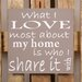 Factory4Home Schild-Set BD-What I love most, Typographische Kunst in Taupe