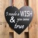 Factory4Home Schild-Set HE-I made a wish, Typographische Kunst