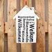 Factory4Home Schild-Set HS-Bienvenue Willkommen, Typographische Kunst in Weiß