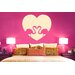 Cut It Out Wall Stickers Flamingo Love Heart Wall Sticker