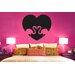 Cut It Out Wall Stickers Flamingo Love Heart Wall Sticker