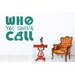 Cut It Out Wall Stickers Who You Gona Call Ghostbusters Wall Sticker