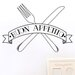 Cut It Out Wall Stickers Buon Appetito Knife and Folk Wall Sticker
