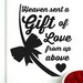 Cut It Out Wall Stickers Heaven Has Sent Us a Gift of Love from up above Wall Sticker