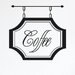 Cut It Out Wall Stickers Coffee Shop Sign Wall Sticker