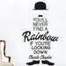 Cut It Out Wall Stickers Charles Chaplin You'll Never Find a Rainbow If You're Looking Down Wall Sticker