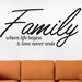 Cut It Out Wall Stickers Family Where Life Begins and Love Never Ends Script Wall Sticker