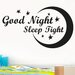 Cut It Out Wall Stickers Good Night Sleep Tight Wall Sticker