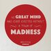 Cut It Out Wall Stickers Aristotle No Great Mind Has Ever Existed without a Touch of Madness Wall Sticker