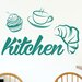 Cut It Out Wall Stickers Breakfast Kitchen Sign Wall Sticker