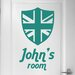 Cut It Out Wall Stickers Personalised British Shield Door Room Wall Sticker
