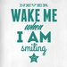 Cut It Out Wall Stickers Never Wake Me When I Am Smiling Door Room Wall Sticker
