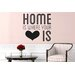 Cut It Out Wall Stickers Home Is Where Your Heart Is Cute Wall Sticker