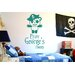 Cut It Out Wall Stickers Personalised Pirate Captain Panda Kids Room Sign Wall Sticker