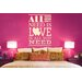 Cut It Out Wall Stickers All You Need Is Love Is All You Need Stack Wall Sticker