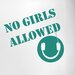 Cut It Out Wall Stickers No Girls Allowed Boys Headphones Room Sign Door Room Wall Sticker