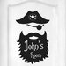 Cut It Out Wall Stickers Personalised Captain Pirate Kids Sign Door Room Wall Sticker