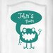 Cut It Out Wall Stickers Personalised Alien Kids Room Sign Door Room Wall Sticker