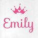 Cut It Out Wall Stickers Personalised Crown Door Room Wall Sticker