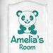 Cut It Out Wall Stickers Personalised Cute Panda Kids Door Room Wall Sticker