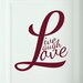 Cut It Out Wall Stickers L Forms Live Laugh Love Door Room Wall Sticker