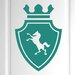 Cut It Out Wall Stickers Horse on Coat of Arms Shield Door Room Wall Sticker