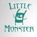 Cut It Out Wall Stickers Little Monster Door Room Wall Sticker