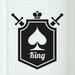 Cut It Out Wall Stickers King of Spaces Shield Door Room Wall Sticker