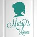 Cut It Out Wall Stickers Personalised Girl Profile Door Room Wall Sticker