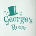 Cut It Out Wall Stickers Personalised Magic Kids Door Room Wall Sticker