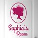 Cut It Out Wall Stickers Personalised Princess Portrait Little Girls Door Room Wall Sticker