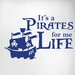 Cut It Out Wall Stickers It's a Pirates Life for Me Door Room Wall Sticker