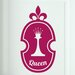 Cut It Out Wall Stickers Queen Chess Piece in Shield Door Room Wall Sticker