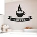 Cut It Out Wall Stickers Coffee Cup With Banner Wall Sticker