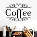 Cut It Out Wall Stickers Coffee Classic Sign Wall Sticker