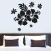 Cut It Out Wall Stickers Hibiscus Flower Wall Sticker