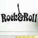 Cut It Out Wall Stickers Rock and Roll Wall Sticker